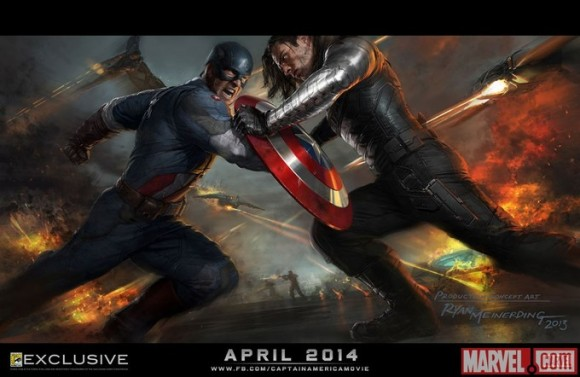 Captain America: Winter Soldier Concept Art Poster