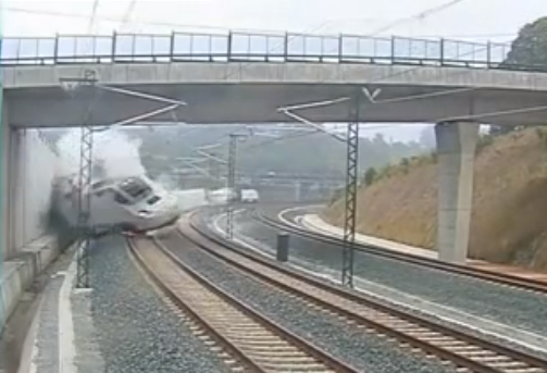 Incredible Train Crash Footage from Spain