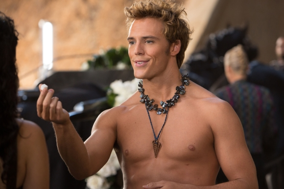 Sam Claflin as Finnick Odair in 'The Hunger Games: Catching Fire'