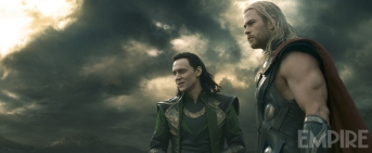 Tom Hiddleston as Loki and Chris Hemsworth as Thor in 'Thor: The Dark World'