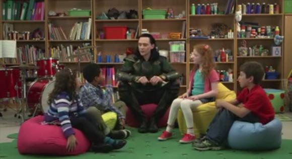 Loki talks with Kids