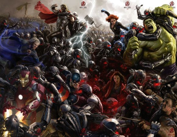 Complete Avengers: Age Of Ultron Comic-Con Poster