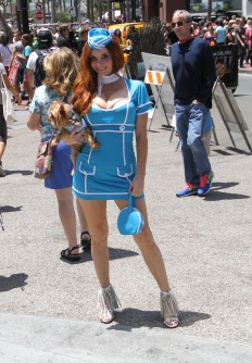 Phoebe Price wears a costume while out and about at San Diego Comic Con 2014